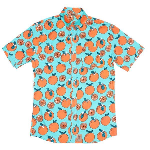 Camisa con naranjas estampadas, Anuski