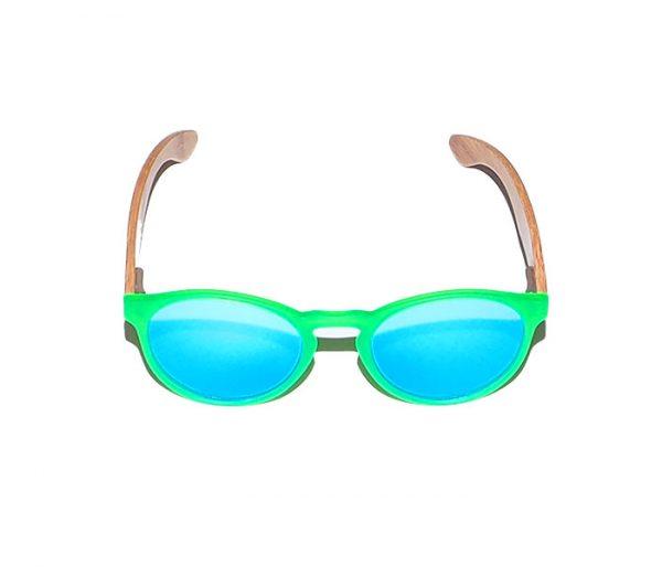 Gafas de madera San San Green