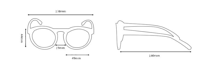 Medidas gafas de sol modelo 2
