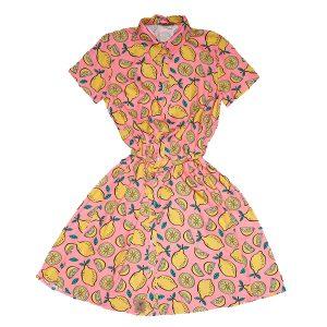 Vestido camisa hierba limón