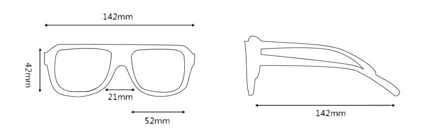 Medidas gafas modelo 3