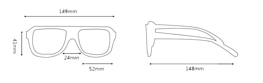Medidas de gafas de sol modelo 4