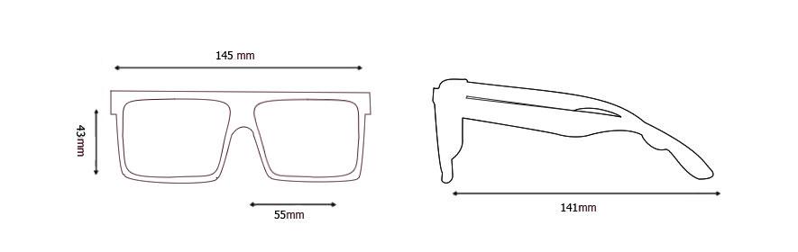 Medidas gafas modelo 6