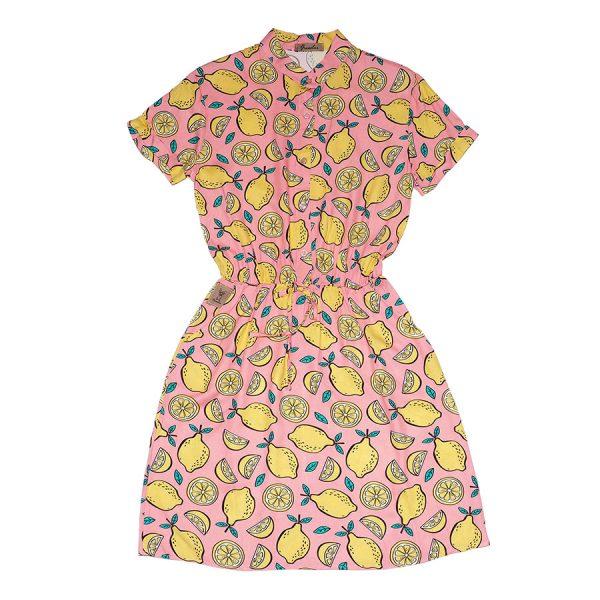 Vestido rosa con limones, Citruxx